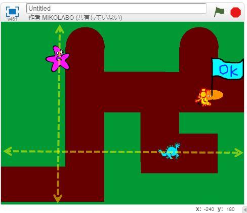 妨害される迷路ゲームを作りました